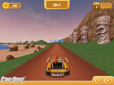 CarQuiz Math Game Beach