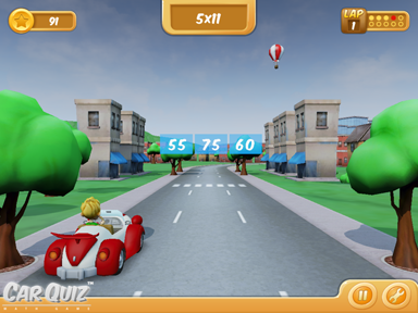 CarQuiz Math Game City